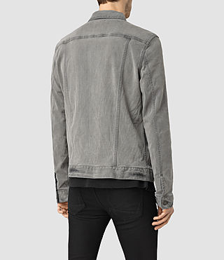Men's Slab Denim Jacket (Grey) - product_image_alt_text_3