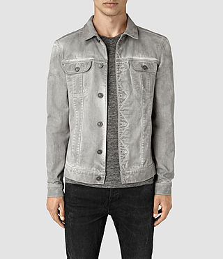 Hombres Orbital Denim Jacket (Grey)