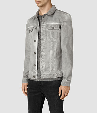 Hombre Orbital Denim Jacket (Grey) - product_image_alt_text_2
