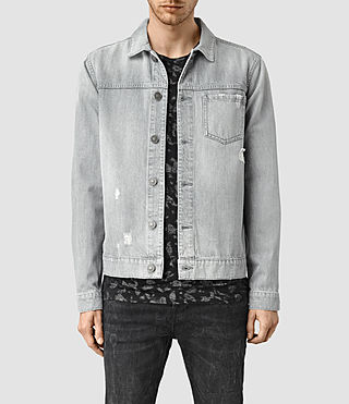 Mens Slurr Tochigi Denim Jacket (Grey) - product_image_alt_text_1