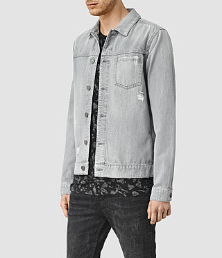Mens Slurr Tochigi Denim Jacket (Grey) - product_image_alt_text_2