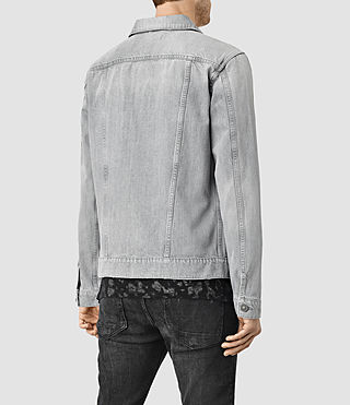 Mens Slurr Tochigi Denim Jacket (Grey) - product_image_alt_text_3