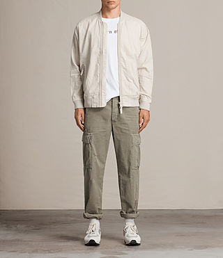 Men's Blix Bomber Jacket (WHITE SAND) - Image 1