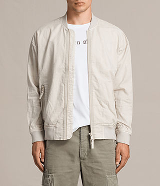 Men's Blix Bomber Jacket (WHITE SAND) - Image 2