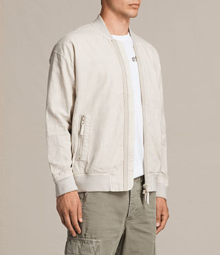Men's Blix Bomber Jacket (WHITE SAND) - Image 3
