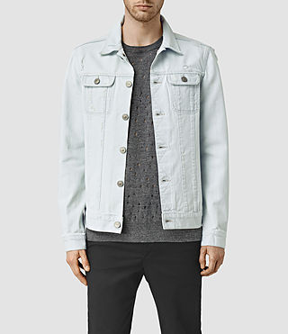 Hommes Trust Denim Jacket (LIGHT INDIGO BLUE)