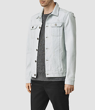 Hombres Trust Denim Jacket (LIGHT INDIGO BLUE) - product_image_alt_text_2