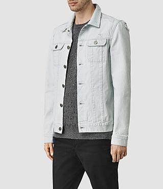 Hommes Trust Denim Jacket (LIGHT INDIGO BLUE) - product_image_alt_text_2