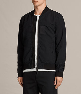 Men's  Cray Bomber Jacket (Black) - product_image_alt_text_2