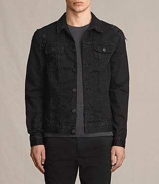 Mens Snipe Denim Jacket (Black) - product_image_alt_text_1