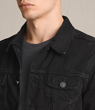 Hommes Snipe Denim Jacket (Black) - product_image_alt_text_2