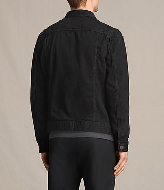Hombres Snipe Denim Jacket (Black) - product_image_alt_text_4