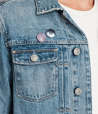 Men's Idaho Denim Jacket (Indigo Blue) - product_image_alt_text_2