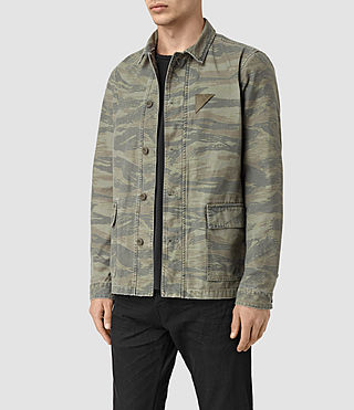 Hommes Storm Overshirt (Khaki Brown)
