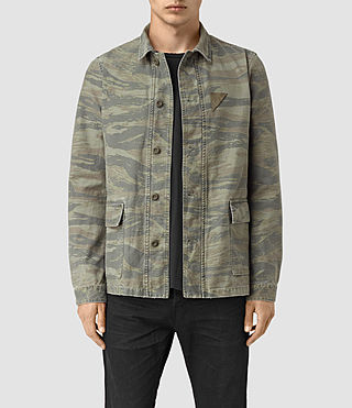 Uomo Storm Overshirt (Khaki Brown) - product_image_alt_text_2