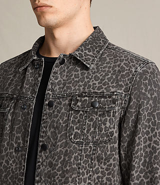 Mens Laguna Denim Jacket (Leopard)