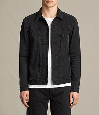 Hombres Baroda Denim Jacket (Jet Black)