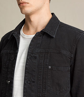 Men's Baroda Denim Jacket (Jet Black) - product_image_alt_text_2