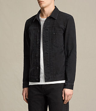 Men's Baroda Denim Jacket (Jet Black) - product_image_alt_text_3