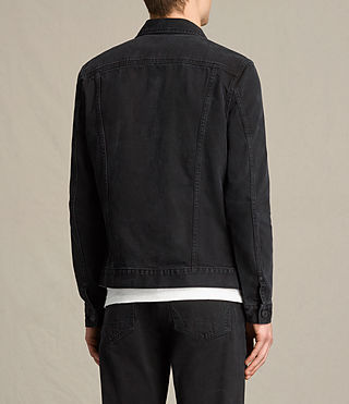 Men's Baroda Denim Jacket (Jet Black) - product_image_alt_text_4