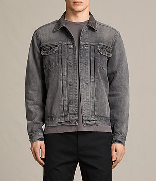 Mens Galion Denim Jacket (Grey)