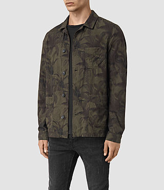Men's Kuto Jacket (Khaki Green) - product_image_alt_text_3