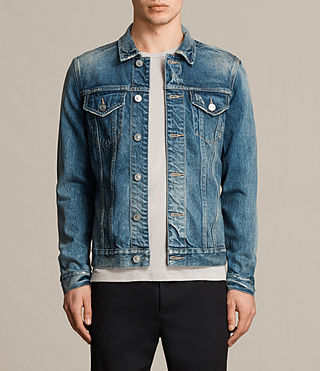 Mens Irmo Denim Jacket (Indigo Blue) - product_image_alt_text_1