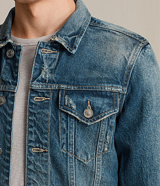 Mens Irmo Denim Jacket (Indigo Blue) - product_image_alt_text_2
