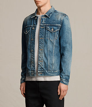 Mens Irmo Denim Jacket (Indigo Blue) - product_image_alt_text_3