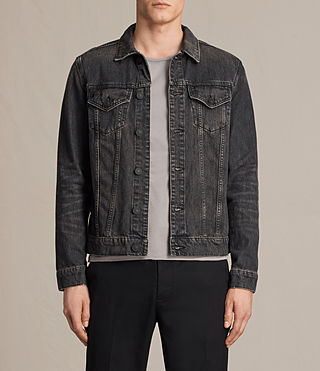 Hombre Bannock Denim Jacket (Jet Black) - product_image_alt_text_1