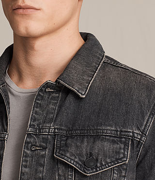 Mens Bannock Denim Jacket (Jet Black) - product_image_alt_text_2