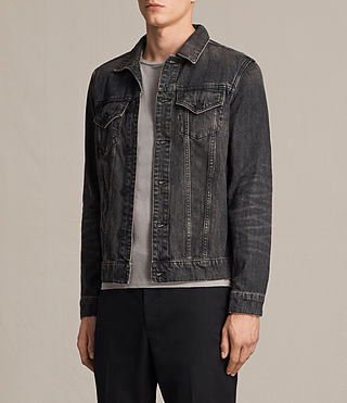 Mens Bannock Denim Jacket (Jet Black) - product_image_alt_text_3