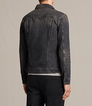 Mens Bannock Denim Jacket (Jet Black) - product_image_alt_text_4