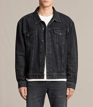 Herren Beulah Denim Jacket (Jet Black)