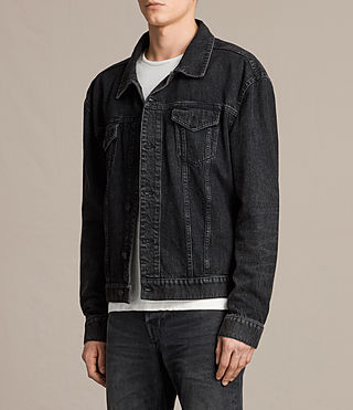 Mens Beulah Denim Jacket (Jet Black) - product_image_alt_text_3