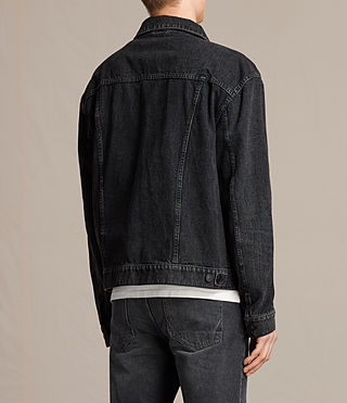 Mens Beulah Denim Jacket (Jet Black) - product_image_alt_text_4