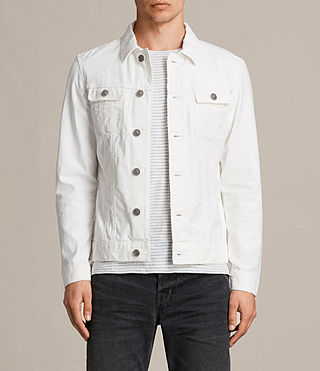 Hombre Glover Denim Jacket (Vintage White) - product_image_alt_text_1