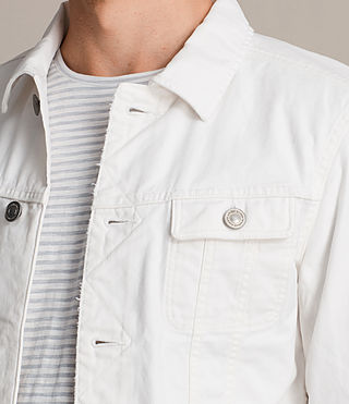 Men's Glover Denim Jacket (Vintage White) - product_image_alt_text_2
