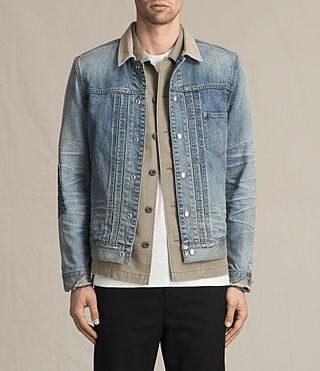 Mens Daruma Denim Jacket (Light Indigo) - product_image_alt_text_1