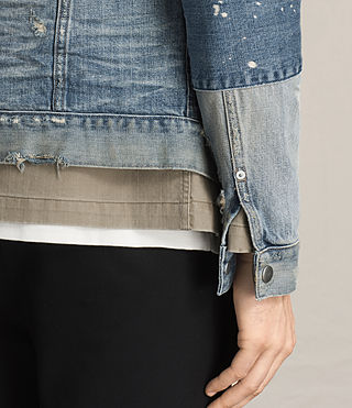 Men's Daruma Denim Jacket (Light Indigo) - product_image_alt_text_2