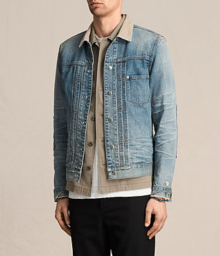 Men's Daruma Denim Jacket (Light Indigo) - product_image_alt_text_3