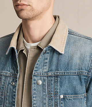 Men's Daruma Denim Jacket (Light Indigo) - product_image_alt_text_4