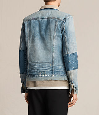 Men's Daruma Denim Jacket (Light Indigo) - product_image_alt_text_6
