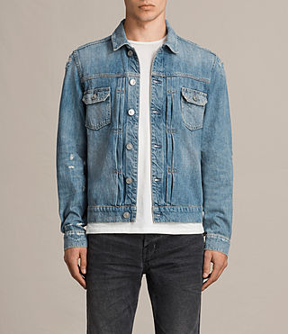 Mens Itel Denim Jacket (Indigo Blue) - Image 1
