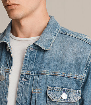 Mens Itel Denim Jacket (Indigo Blue) - Image 2