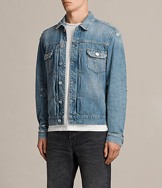 Mens Itel Denim Jacket (Indigo Blue) - Image 3