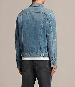 Mens Itel Denim Jacket (Indigo Blue) - Image 4