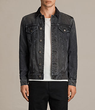 Mens Gravel Denim Jacket (Grey) - Image 1