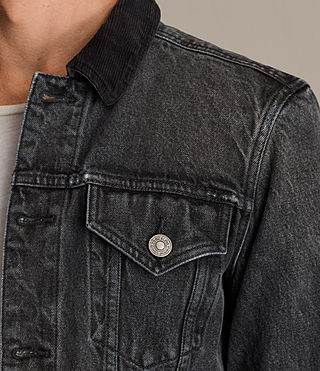 Mens Gravel Denim Jacket (Grey) - Image 2