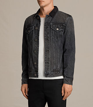 Mens Gravel Denim Jacket (Grey) - Image 3